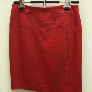 Red Express pencil skirt, size 0